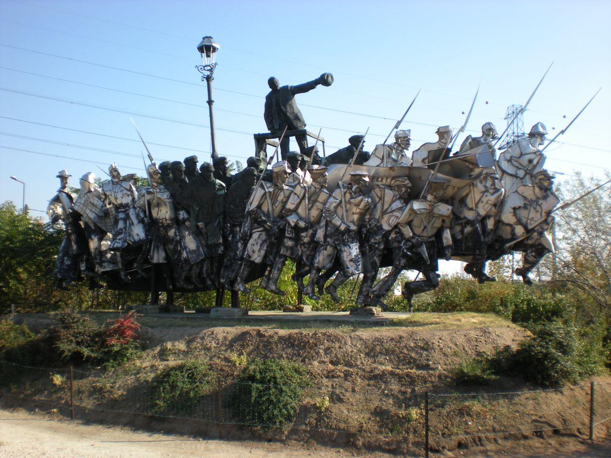 Statue with Lightpost